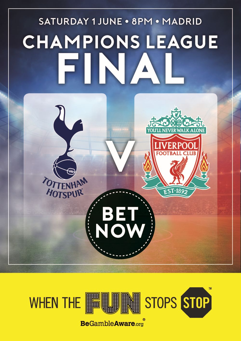 Champions League Final 2019 Poster - Sports Alive