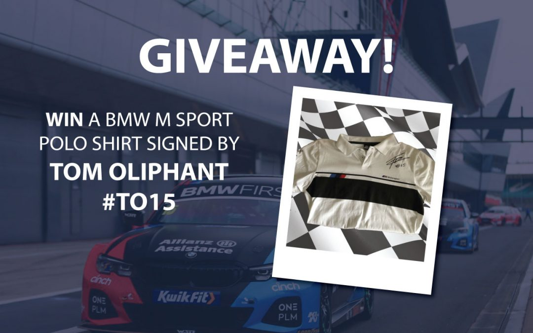 Win a BMW M-Sport polo shirt signed by Tom Oliphant!